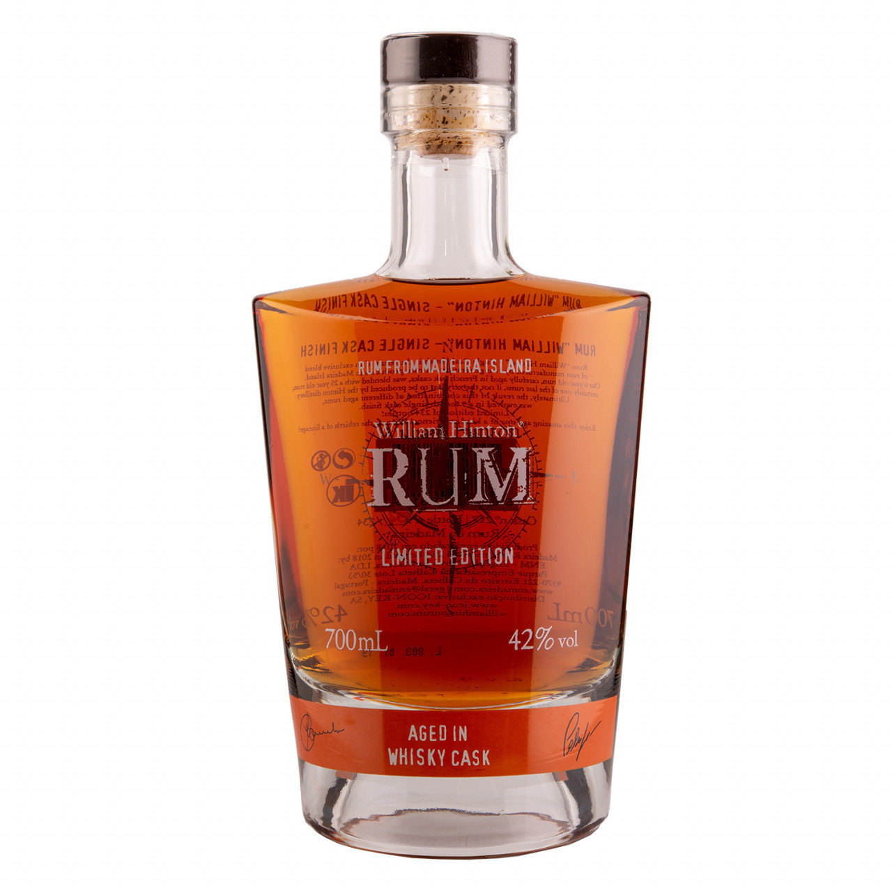 Hinton Rum Rum da Madeira 6 Jahre Whisky Cask Limited 42% 0,7l