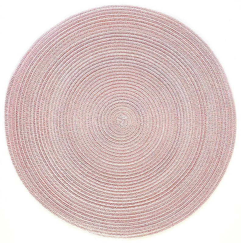Pichler Tischset 38 cm rund Samba peach