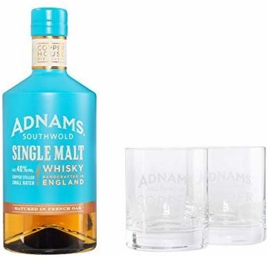 Adnams Adnams Whisky Single Malt Whisky + 2 Gläser  0,7 l 40%