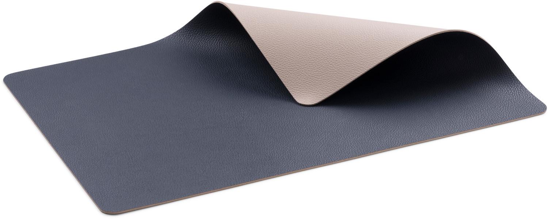 Bitz Tischset 4-tlg., Blau/ Sand - Blau