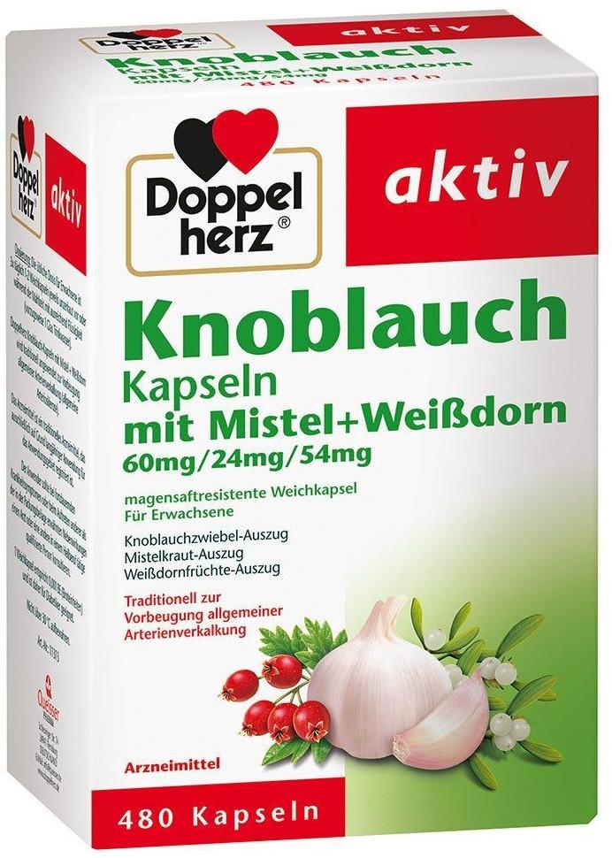 Knoblauch Kapseln mit Mistel und Weißdorn (480Stk.)