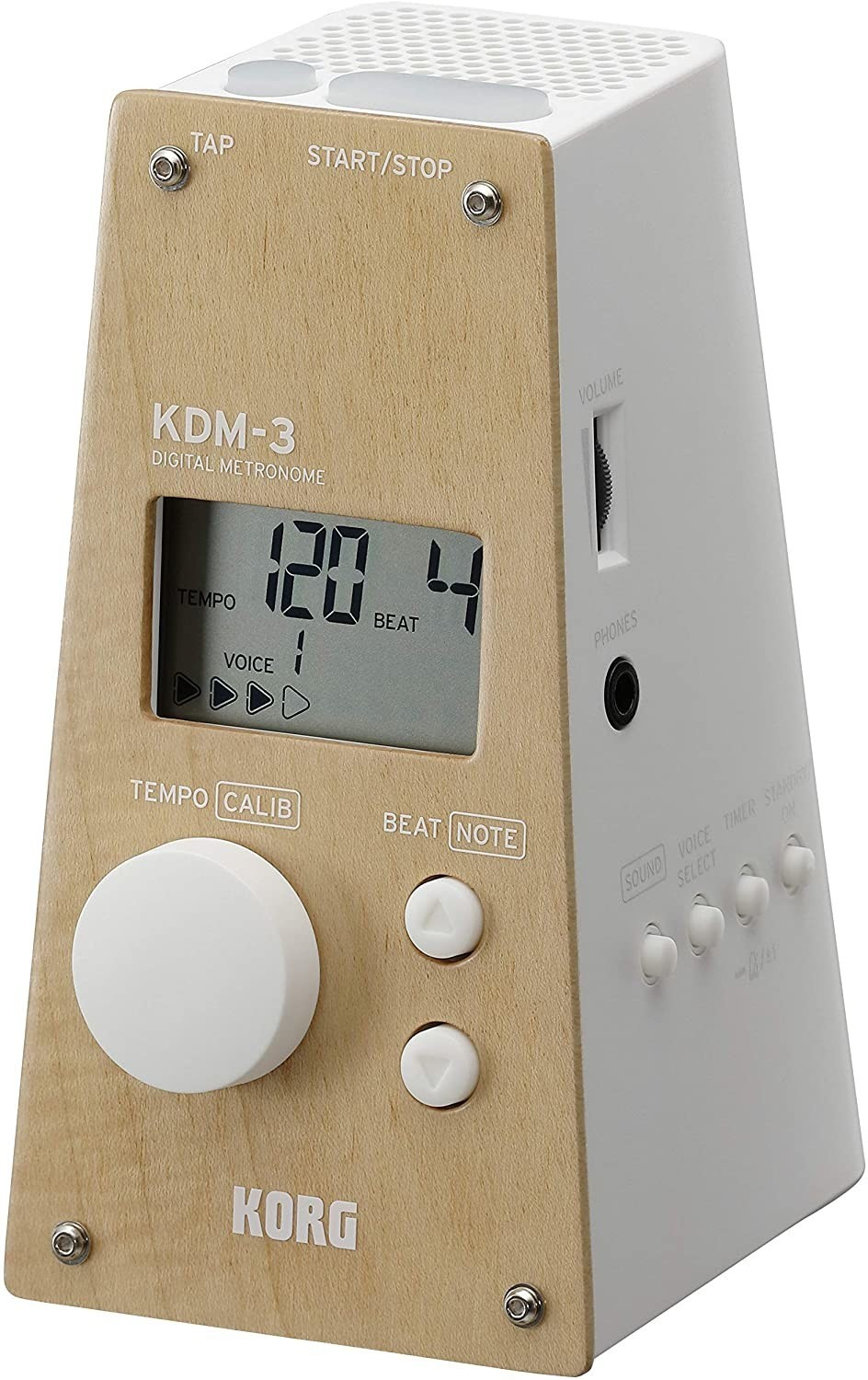 Image of Korg DM3-WDWH Pyramid Style Digital Metronome