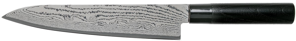 Tojiro Sippu Black Damast Kochmesser 24 cm (FD-1595)