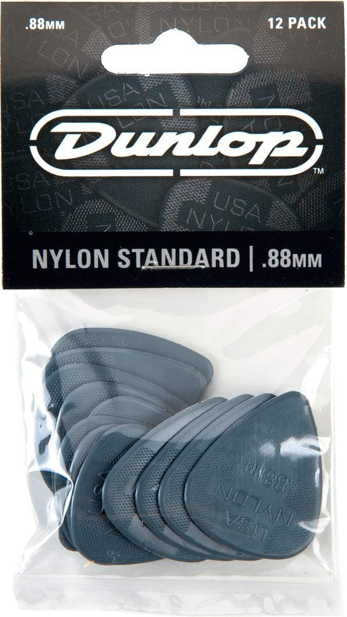 Image of Dunlop Nylon Standard Guitar Picks 0.88mm (12-Pack)