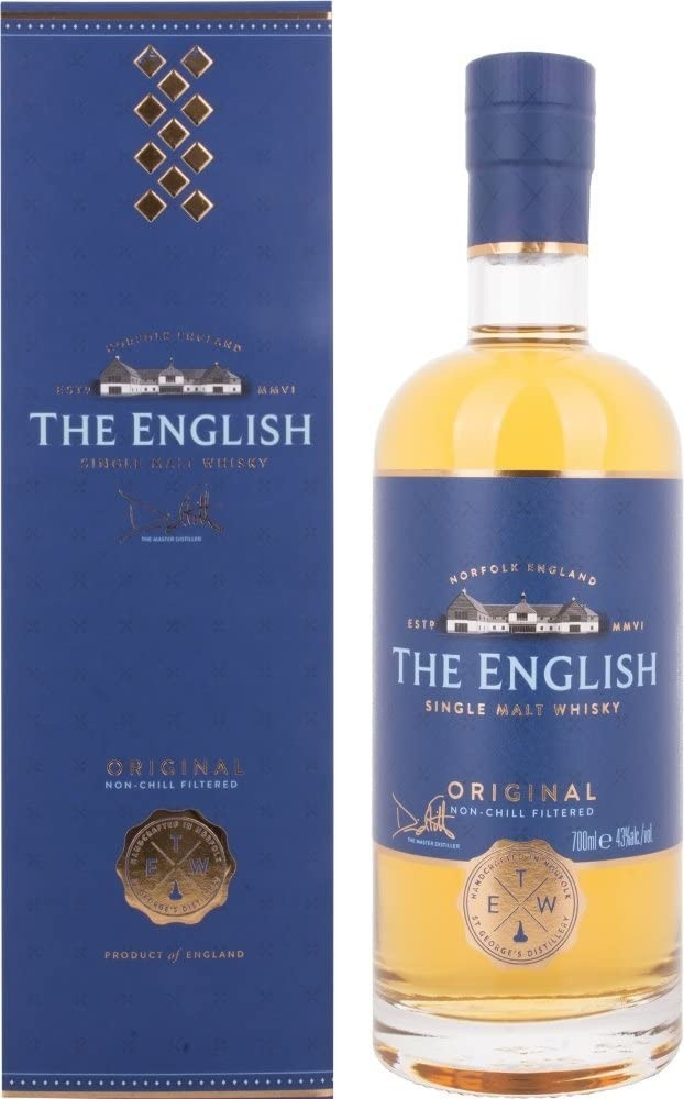 The English Whisky Co. Original Single Malt Whisky, 70cl