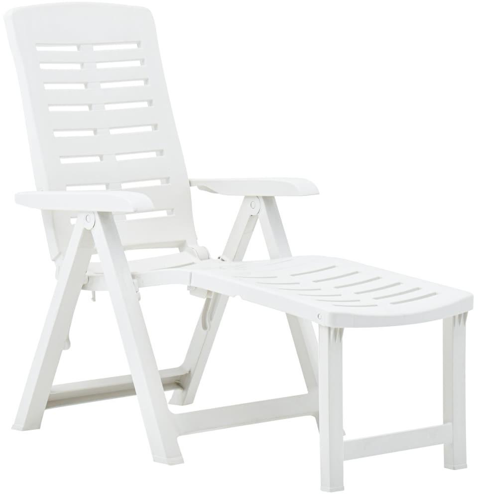 vidaXL Klappliege Kunststoff Weiß (48757)