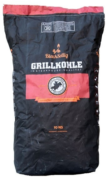 BlackSellig Steakhouse-Grillkohle 10 kg