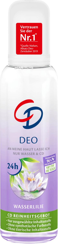 CD Deo Zerstäuber Deodorant Wasserlilie 24h (75 ml)