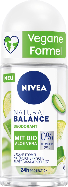 Nivea Deo Roll On Deodorant Natural Balance Aloe Vera (50 ml)