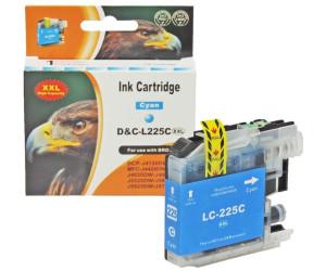 D&C ersetzt Brother LC-225 XXL C Cyan Blau Druckerpatrone für 1.200 Seiten