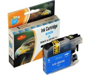 D&C ersetzt Brother LC-223 XL C Cyan Blau Druckerpatrone für 550 Seiten