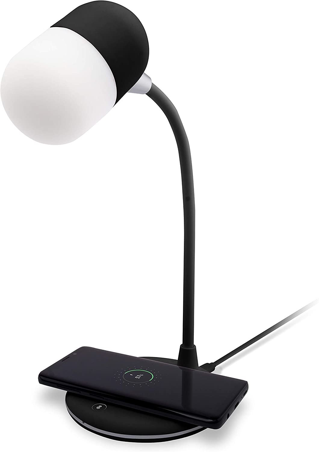 Image of Groov-e Apollo Touch Lamp With Bluetooth Speaker Black