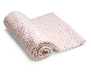 Stokke Decke aus Merino Wolle pink