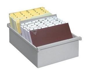 HAN Karteikasten DIN A5 für 1300 Karteikarten grau ohne Deckel (955/0/11)