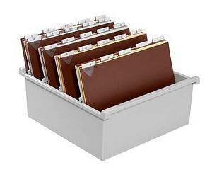 HAN Karteikasten DIN A4 für 1300 Karteikarten grau ohne Deckel (954-0-11)