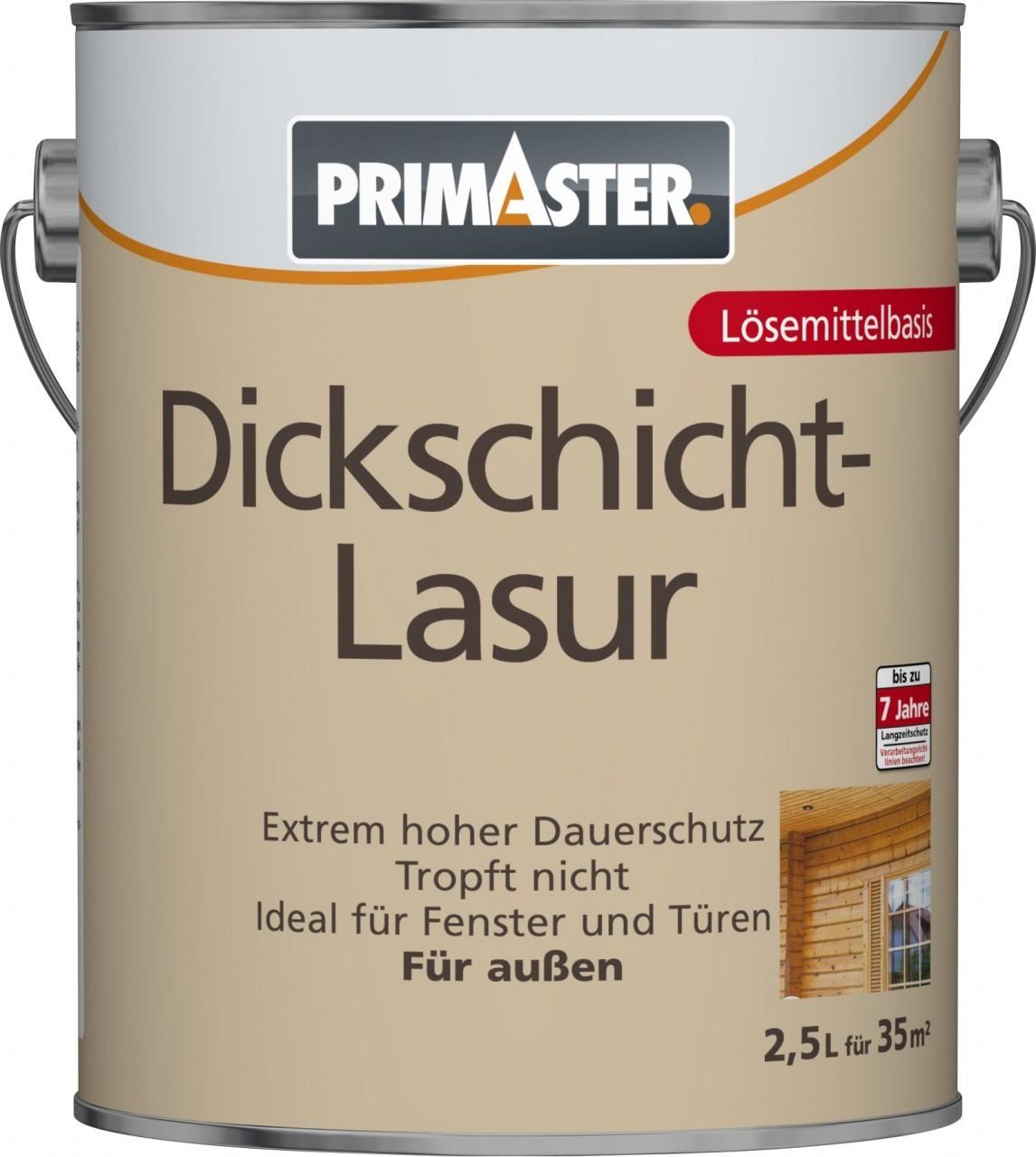 PRIMASTER Dickschichtlasur 2,5 l teak