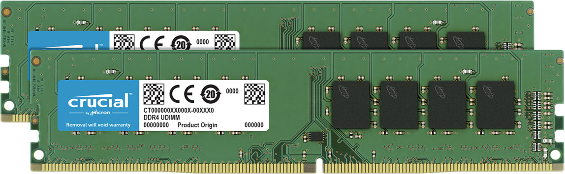 Image of Crucial 16GB Kit DDR4-2666 CL19 (CT2K8G4DFRA266)