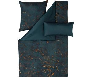 Estella Bio Bettwäsche Dartmoor grau gestreift mit  Zusatzkissen 40 x 80 cm