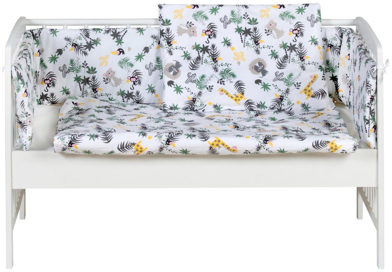 Schardt Beistellbett Micky 60×120cm weiß/ Jungle
