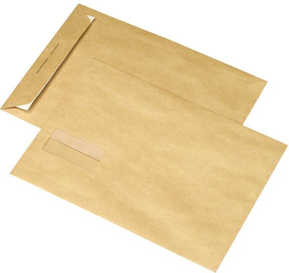 Mailmedia Adressfeld-Versandtasche B4 mit Fenster braun (30007502)
