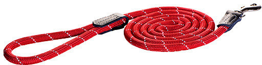 Rogz Rope Hundeleine einfach rot 6 mm