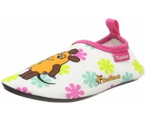 Wei/ß//Rosa 586 Playshoes Unisex-Kinder Badeslipper Aqua-Schuhe Die Maus Blumen Mehrfarbig 22//23 EU