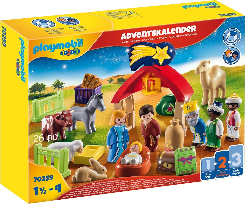 Playmobil Adventskalender 1.2.3 Weihnachtskrippe (70259)