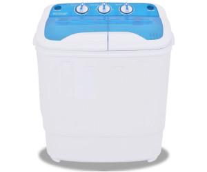 vidaXL Mini-Waschmaschine mit Schleuder und 2 Kammern 5,6 kg