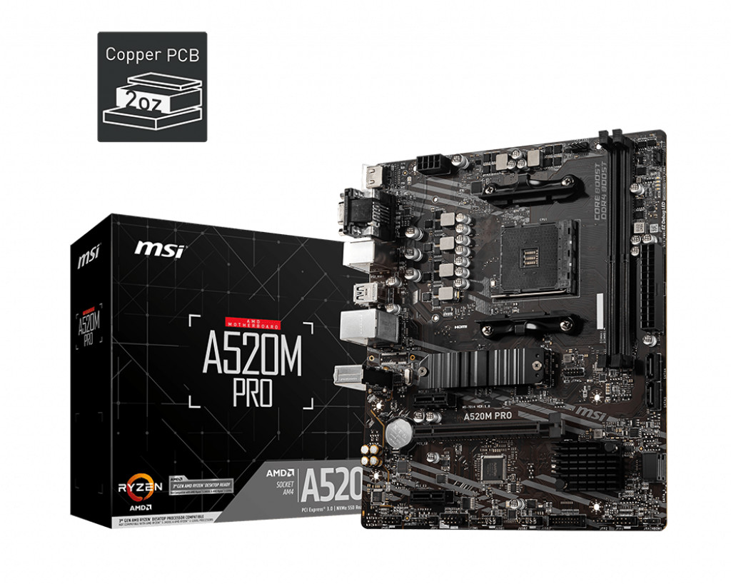 Image of MSI A520M Pro