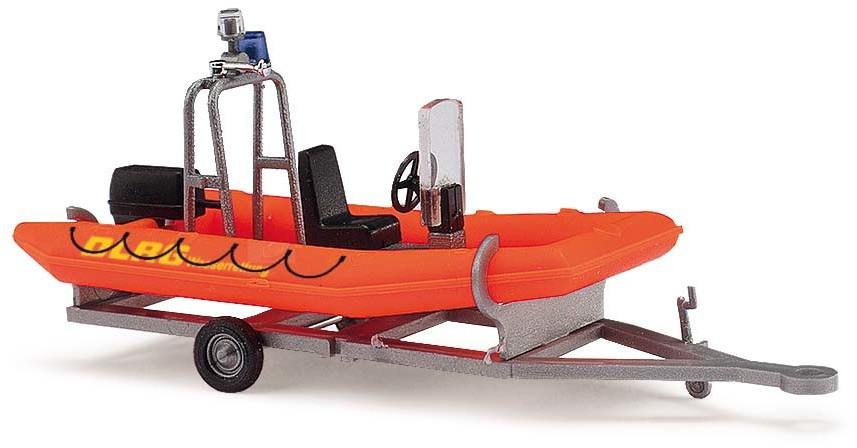 Busch Anhänger mit Motorboot, DLRG (59951)