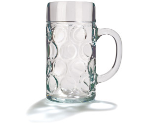 Stölzle Bierkrug mit Schild 0,50 l Isar 2er-Set