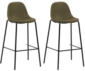 VidaXL Chaise de bar en tissu marron (2 pièces) au meilleur