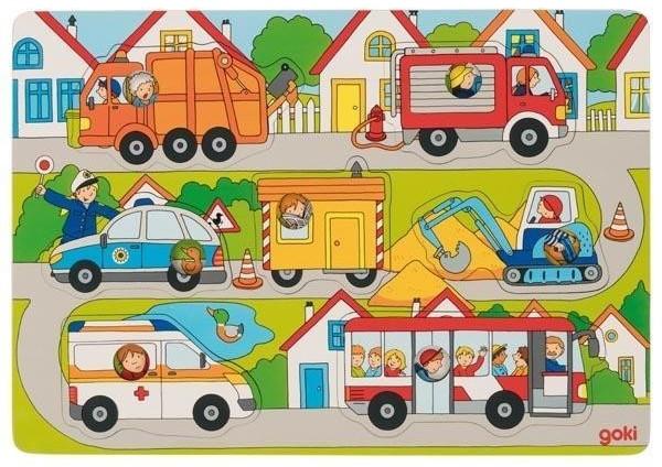 Goki Hintergrundbildpuzzle Auf der Straße