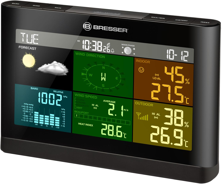 Bresser Wetterstation Wetter Center 5-in-1 Windrad Windgeschwindigkeit Luftdruck
