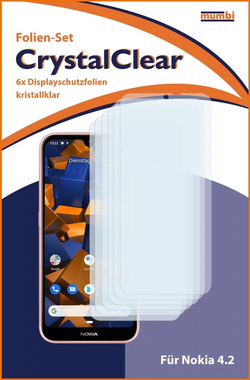 Mumbi Schutzfolie kompatibel mit Nokia 4.2 Folie klar (6x)
