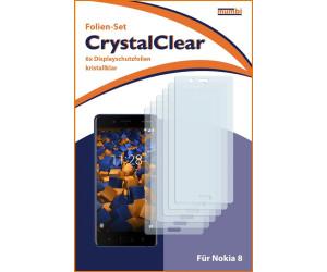 Mumbi Schutzfolie kompatibel mit Nokia 8 Folie klar (6x)