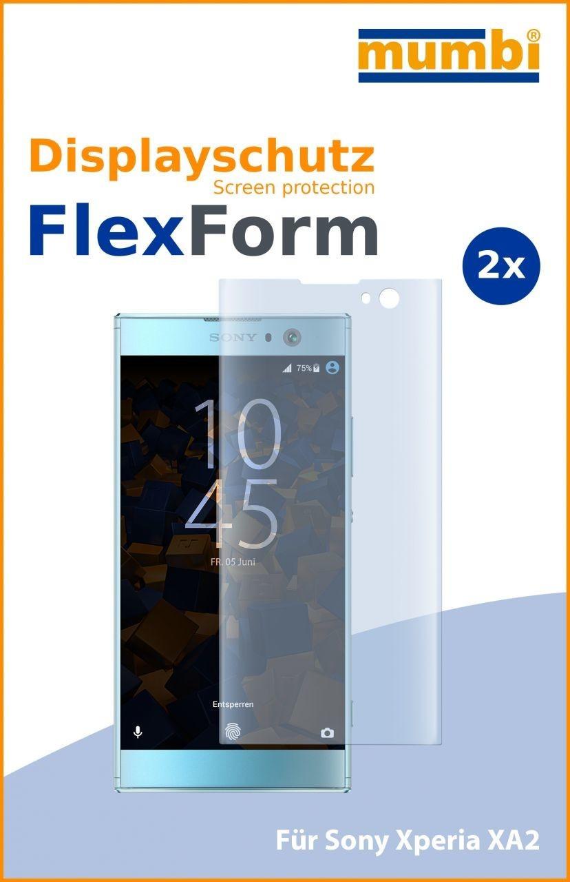 Mumbi Flex Schutzfolie kompatibel mit Sony Xperia XA2 Folie (2x)