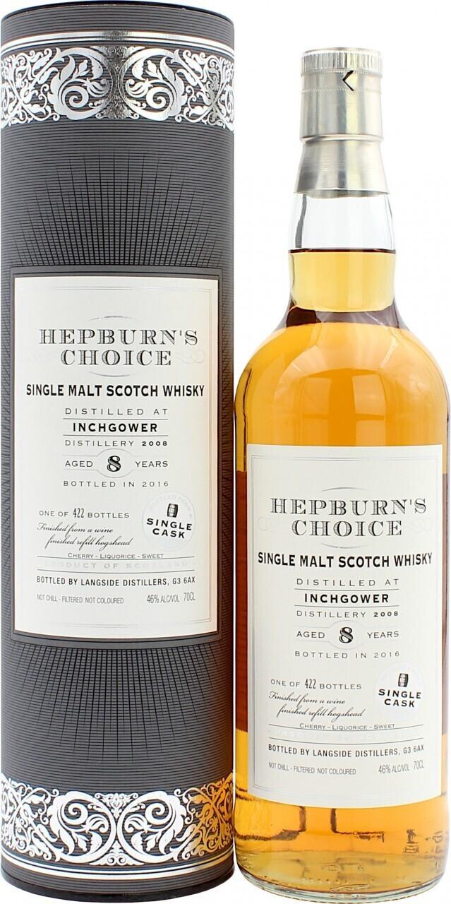 Hunter Laing 2008/2016 Inchgower 8 Jahre Hepburn's Choice 0,7l 46%