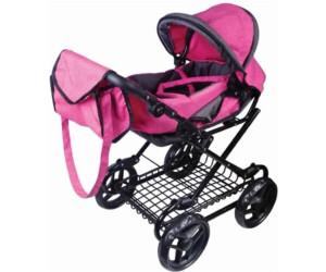 Amia Puppenwagen pink grau melliert