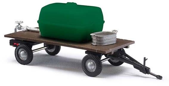 Busch Zweiachs-Anhänger mit Wassertank und Zinkwanne (59945)