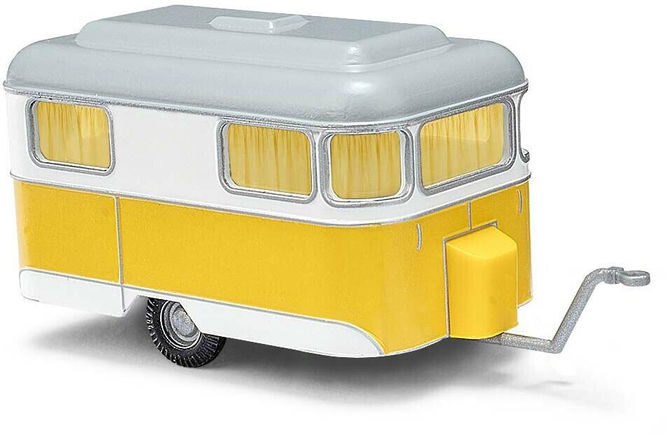Busch Nagetusch Wohnwagen weiß/gelb (51701)