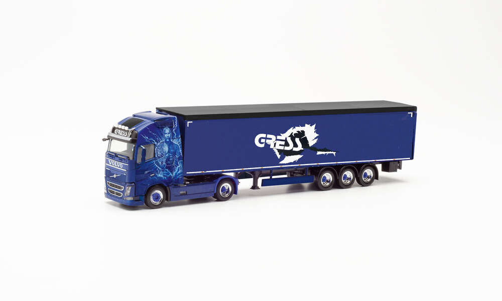 Herpa Volvo FH GL. XL Schubboden-Sattelzug - Helmut Gress Transporte (312219)