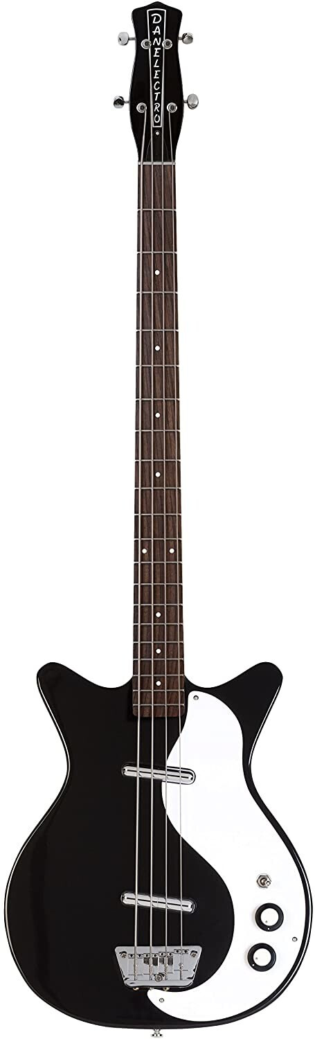 Image of Danelectro 59DC Long Scale Bass Guitar - Black