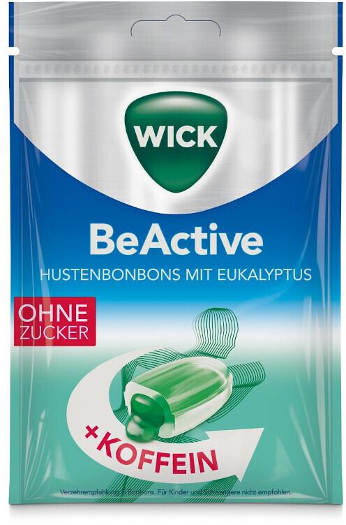 Wick Be Active Hustenbonbons mit Eukalyptus & Koffein Ohne Zucker (72g)