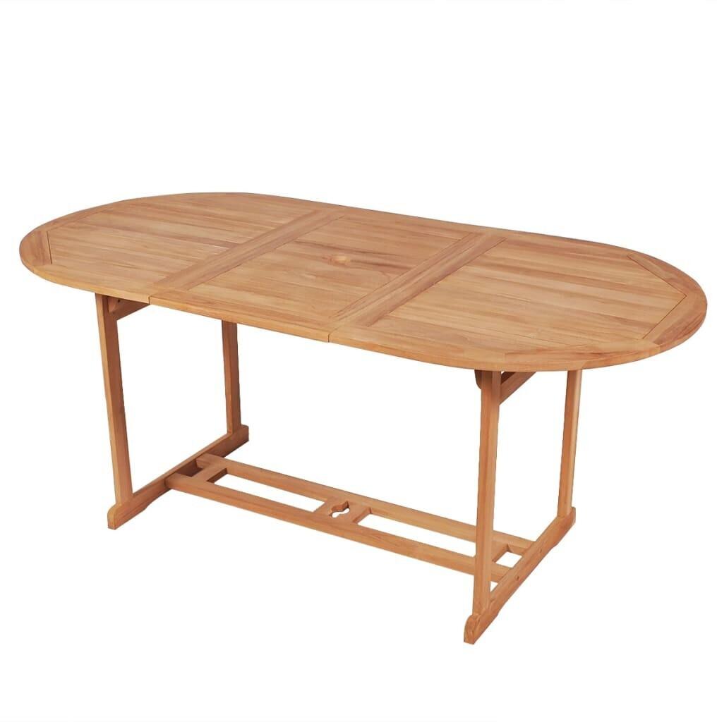 vidaXL Garden Table in Teak 180 x 90 x 75 cm