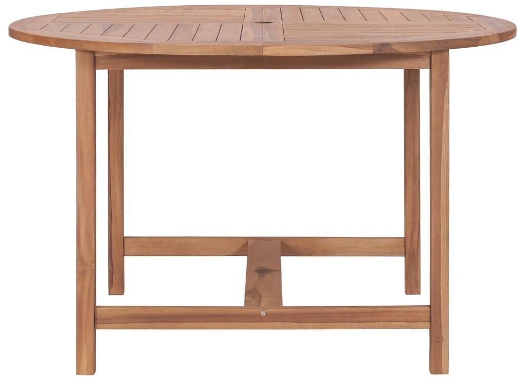 vidaXL Garden Table in Teak 120 x 76 cm