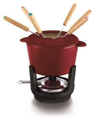 Image of BEKA Cast iron fondue set red 1.1 L