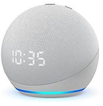 Amazon Echo Dot (4ª generación) con reloj blanco