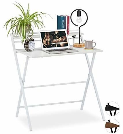 Relaxdays Schreibtisch klappbar weiß
