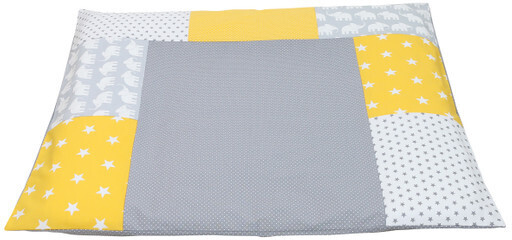 Image of Ullenboom Changing Mat Cover Patchwork elephant yellow